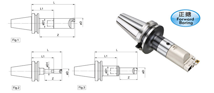 Indexable RBM Single-BIT Rough Boring Head+LBK Shank