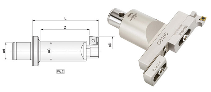 Indexable RBM Single-BIT Rough Boring Head Series
