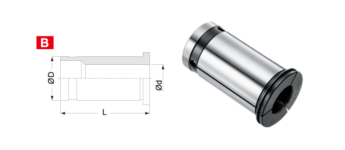 COLLET FOR SUPER HEAD SOLID TUNGSTEN CARBIDE BOR ING BAR