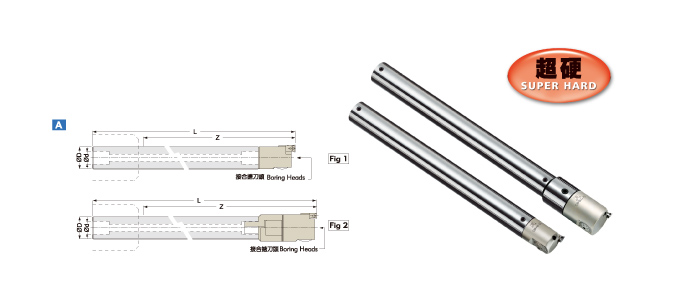 SUPER HARD SOLID TUNGSTEN CARBIDE BORING BAR - Boring Range from Ø20 - Ø75mm